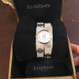 Bebe rhinestone watch bangle